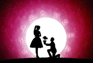 52403529 - red background of astrology and love concept.